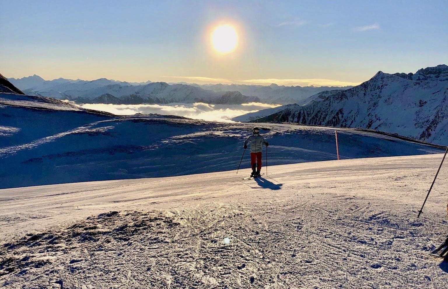 Ski fahren am Pizol.