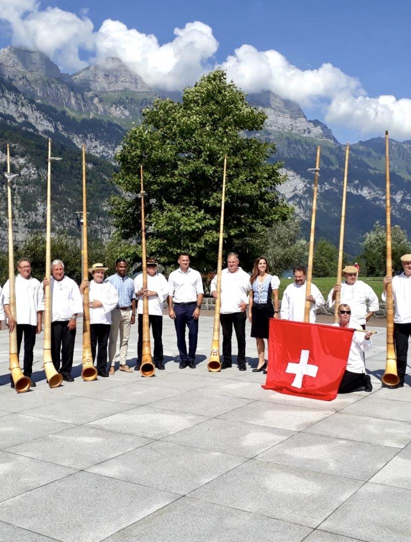 Bundesfeier mit der Alphorngruppe Jöüri