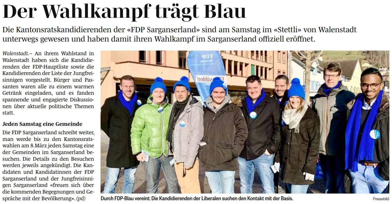 Standaktion Walenstadt